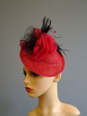 wedding Hats Fascinators - PINK LADY